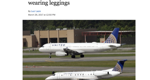 United Airlines #fail as they kick off 10 year old girl for wearing leggings