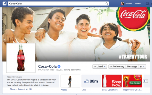 Coke's Facebook Page