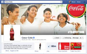 Coke's Facebook Page