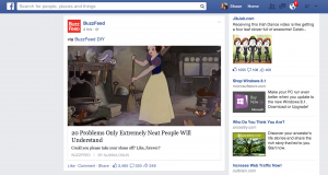 Facebook Newsfeed example with Buzzfeed