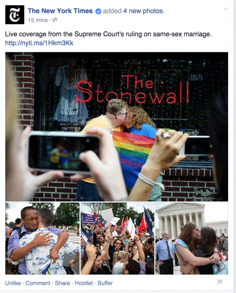 Fb post https://www.facebook.com/humanrightscampaign/posts/10153468409773281